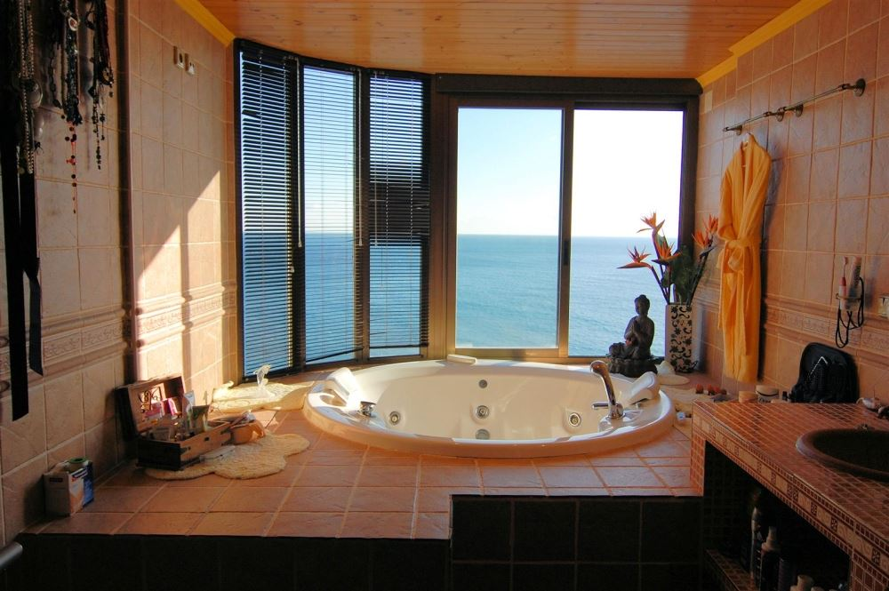 What A View To Relax To In The Master Bathroom