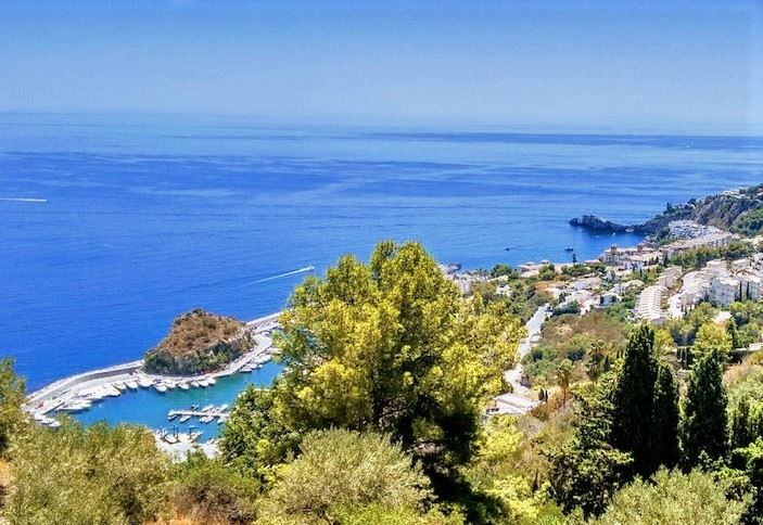 Great views over the marina in La Herradura