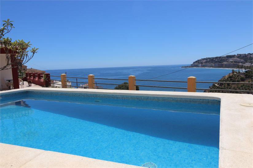 Great views from this villa close to the beach