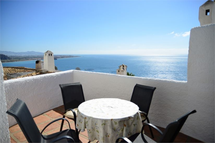 South facing property with stunning sea views