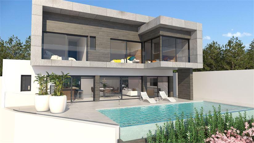 3 bedroom villa with private pool, garden & garage